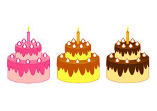 Tres tortas stock de ilustración