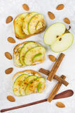 Tres tostadas dulces Imagenes de archivo