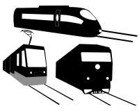 Tres trenes Imagen de archivo libre de regalías