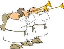 Tres trompetistas del ángel stock de ilustración