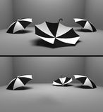Tres umbrelas Fotografía de archivo