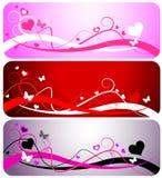 Tres Valentine Backgrounds Fotos de archivo libres de regalías