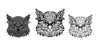 Tres variantes de un evento principal en un fondo blanco para un tatto stock de ilustración