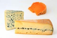 Tres variedades de queso francés Fotos de archivo libres de regalías