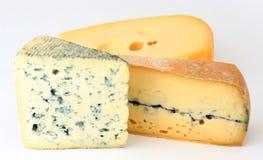 Tres variedades de queso francés Imágenes de archivo libres de regalías