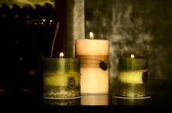 Tres velas foto de archivo libre de regalías