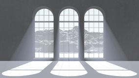 Tres ventanas Ilustración del Vector