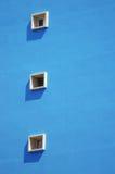 Tres ventanas en una fila vertical Fondo para una tarjeta de la invitación o una enhorabuena Foto de archivo
