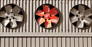 Tres ventiladores Imagen de archivo libre de regalías