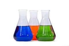 Tres vidrios coloridos Imagen de archivo libre de regalías