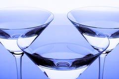 Tres vidrios cristalinos Fotos de archivo libres de regalías