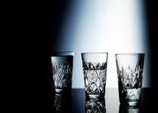 Tres vidrios de consumición Foto de archivo
