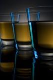 Tres vidrios de la bebida Imagen de archivo