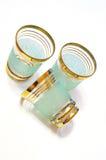 Tres vidrios de licor Foto de archivo libre de regalías