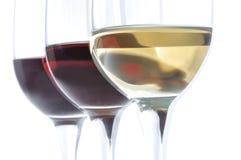 Tres vidrios de vino Fotos de archivo libres de regalías