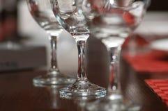 Tres vidrios en el vector Imágenes de archivo libres de regalías