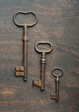 Tres viejos claves Foto de archivo