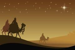 Tres wisemans y la estrella