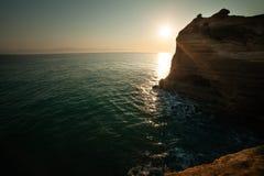 Tresca Corfù, Grecia del canale d Immagine Stock