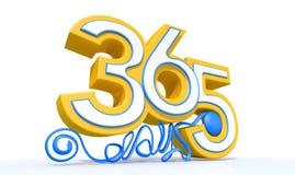Trescientos y sesenta y cinco días ilustración del vector