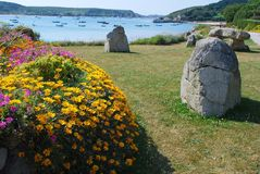 Tresco Island, Cornwall. The beauty of Tresco island, Isles of Scilly, UK Stock Photos