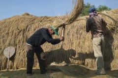 Tresher tailandés del arroz imagen de archivo