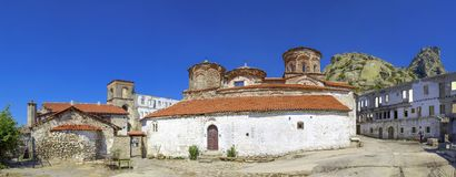 Treskavec kloster, Prilep, Makedonien royaltyfri bild