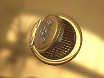 Tresor. Illustration of a Safe made in 3D royalty free stock photo