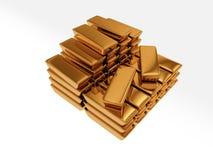 Tresor. Illustration of Goldbars made in 3D royalty free illustration