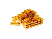Tresor. Illustration of Goldbars made in 3D vector illustration