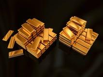 Tresor. Illustration of Goldbars made in 3D stock illustration