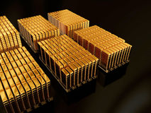 Tresor. Illustration of Goldbars made in 3D Stock Photos