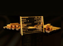 Tresor. Illustration of Goldbars made in 3D Royalty Free Stock Images
