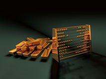 Tresor. Illustration of Goldbars made in 3D Stock Images