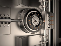 Tresortür, 3D Lizenzfreies Stockfoto