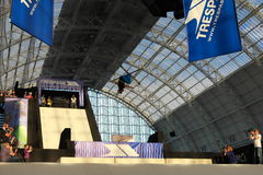 Trespass Big Air Competition (London). Trespass Big Air Competition is a freestyle ski competition held at London Snow Show in Olympia (20-24 October, 2010 royalty free stock image