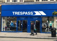 Trespass store royalty free stock image