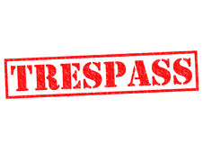 TRESPASS. Red Rubber Stamp over a white background Stock Photo