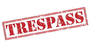 Trespass red stamp Royalty Free Stock Photos