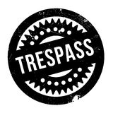 Trespass rubber stamp Royalty Free Stock Images