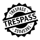 Trespass rubber stamp Royalty Free Stock Image