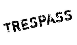 Trespass rubber stamp. Grunge design with dust scratches. Effects can be easily removed for a clean, crisp look. Color is easily changed Stock Photography