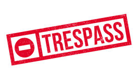 Trespass rubber stamp Stock Image