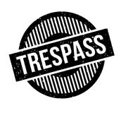 Trespass rubber stamp Royalty Free Stock Photos