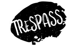 Trespass rubber stamp Stock Images