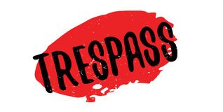 Trespass rubber stamp Royalty Free Stock Photography