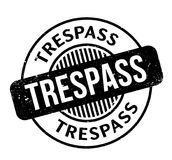 Trespass rubber stamp Stock Photography