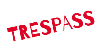 Trespass rubber stamp Stock Photos