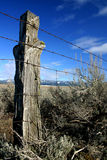 Trespasser's Post. Rural Valley County Idaho Royalty Free Stock Photos