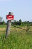 отсутствие trespassing Стоковая Фотография RF